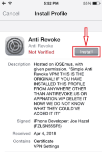 Click-on-Anti-Revoke-Profile-Install-Button