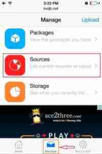 Click-on-Manage-and-Tap-on-Sources-to-Add-Repo-Url