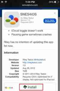 Click-on-SNES4iOS-Install-Button
