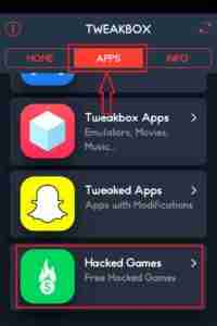 Navigate-to-TweakBox-Hacked-Games-Section