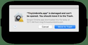 TinyUmbrella.app-is-damaged