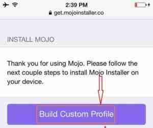 Tap-building-custom-profile-get-mojo-installer