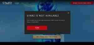 Starz-is-not-Available