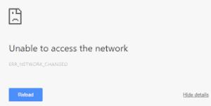 err_network_changed error