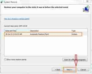 Choose Automatic Restore-Point-and-click-on-Next