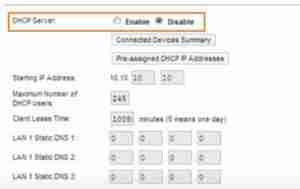Disabling-The-DHCP