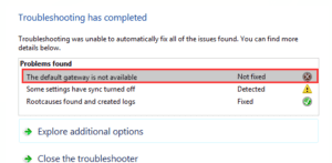 Fix-Default-Gateway-Is-Not-Available