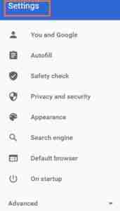 Showing-Settings-Option