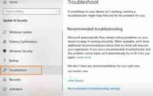 Click-On-Troubleshoot-Option