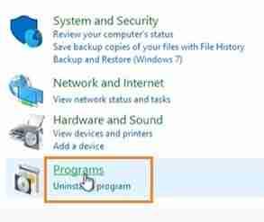 Click-On-Programs-Option