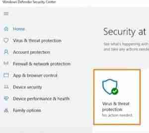 Click-On-Virus-And-Threat-Option