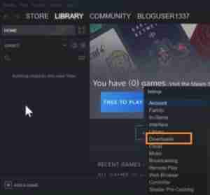 Go-To-Downloads-Option