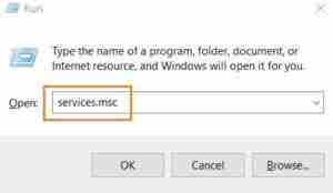Type-Services.msc