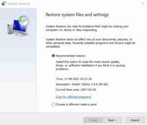 System-Restore-Wizard