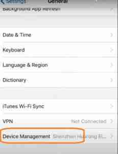 Tap-on-Device-Management